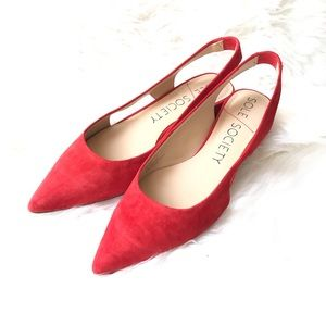 Sole / Society Bright Red Manalynn Cut Out Pump 9
